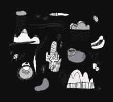 Cactus Mountain black&white One Piece - Long Sleeve