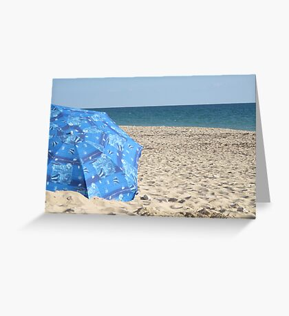 Sand and Blue Greeting Card