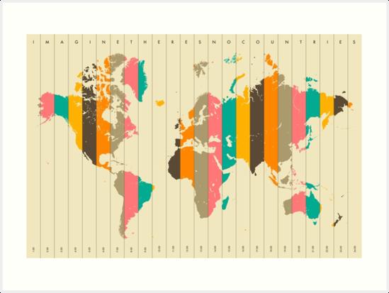 WORLD MAP by JazzberryBlue