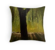 Willow in the sunset Throw Pillow