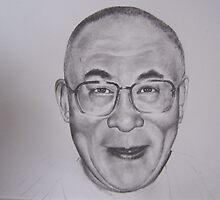 This is a piece of a 3 subject piece for the author Bo Lozoff with his wife Sita and the Dalai Lama by perfectpencil