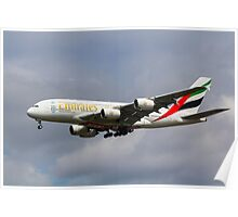 Emirates Airlines A380 Poster