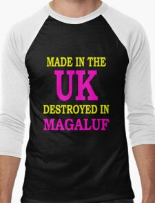 Made in the UK destroyed in Magaluf Men's Baseball ¾ T-Shirt