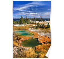 West Thumb Geyser Basin, Yellowstone National Park. USA. Poster