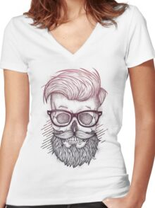 Hipster is Dead Women's Fitted V-Neck T-Shirt