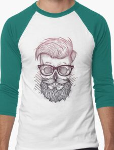 Hipster is Dead Men's Baseball ¾ T-Shirt
