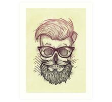 Hipster is Dead Art Print