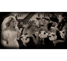 Bubbling Bridesmaids Photographic Print