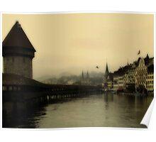 Luzern Bridge Poster