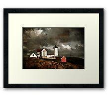 Nubble Lighthouse Framed Print