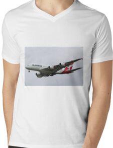 Qantas Airbus A380 Mens V-Neck T-Shirt