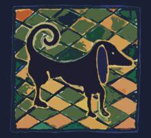 DOG KITCHEN CERAMIC TILES FLOOR by SofiaYoushi