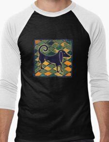 DOG KITCHEN CERAMIC TILES FLOOR Men's Baseball ¾ T-Shirt