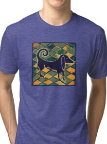 DOG KITCHEN CERAMIC TILES FLOOR Tri-blend T-Shirt