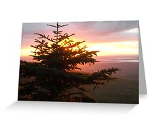 Cadillac Mountain Sunset Greeting Card