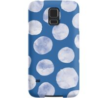 Polka Dot | White on Blue Samsung Galaxy Case/Skin