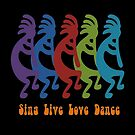 Sing, Live, Love Dance Tribal Kokopelli by taiche