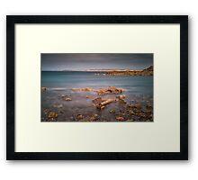 Barnacle covered anchor Rhossili bay Framed Print