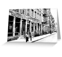 Mad Dog and Beans, Financial District, New York City Greeting Card