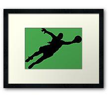 Goalie Parry 2 Framed Print