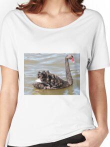 Fabulous Feathers, Black Swan, Lake Ginninderra, A.C.T. Australia. Women's Relaxed Fit T-Shirt