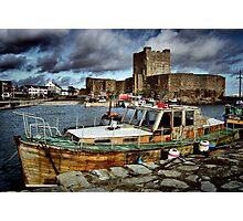 Carrickfergus Castle & Harbour ... Photographic Print