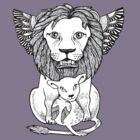 Lion and Lamb Tee by Anita Inverarity