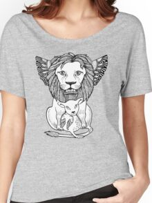Lion and Lamb Tee Women's Relaxed Fit T-Shirt