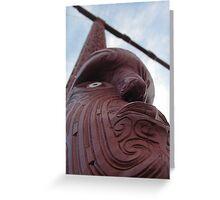 Maori Totem Pole Greeting Card