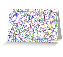 Colorful lines Greeting Card