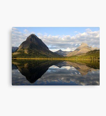 Swiftcurrent lake mirror Canvas Print