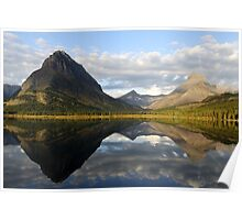 Swiftcurrent lake mirror Poster