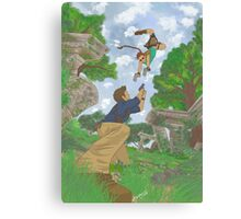 cross over Tomb Raider x Uncharted Canvas Print