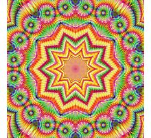 Rainbow Fractal Kaleidoscope 287 Photographic Print
