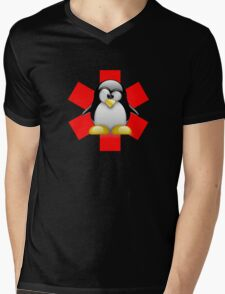 LINUX TUX PENGUIN HOSPITAL Mens V-Neck T-Shirt