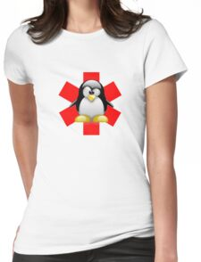 LINUX TUX PENGUIN HOSPITAL Womens Fitted T-Shirt