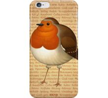 Chubby Erithacus iPhone Case/Skin