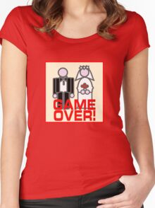 MARRIAGE GAME OVER Women's Fitted Scoop T-Shirt