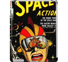 Retro Comic Cover - SPACE ACTION - Vintage Sci-fi cover iPad Case/Skin