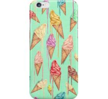 Melted ice creams iPhone Case/Skin