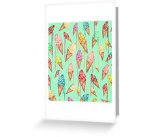 Melted ice creams Greeting Card