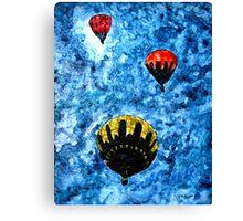 hot air balloon watercolour painting modern art print Canvas Print