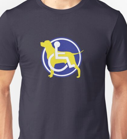 SERVICE DOG WHEELCHAIR Unisex T-Shirt