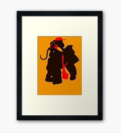DK and Diddy (large print) Framed Print