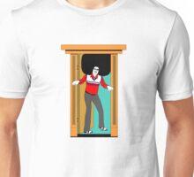 Big Afro stuck by door! Unisex T-Shirt