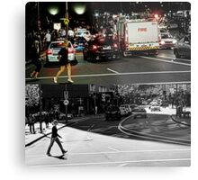 Like Night and Day - Crossing - 2009 Portfolio Project Metal Print