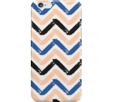 Blue, Pink & Black Chevron iPhone Case/Skin