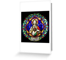 Jesus Scared Heart Stained Glass Greeting Card