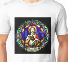 Jesus Scared Heart Stained Glass Unisex T-Shirt