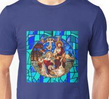 Nativity Scene Stained Glass Unisex T-Shirt